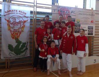 Na 11. MT »NESTL ŽGANK« karateisti osvojili 3 zlate in eno bronasto medaljo.