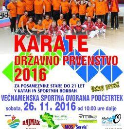 Državno prvenstvo v karateju- Podčetrtek 2016