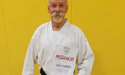 Jožef – Pepi Kladušek ob jubileju dobil priznanje za aktivno delu v karate klubu Kozjansko in Obsotelje